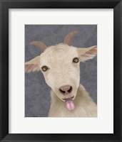 Framed Funny Farm Goat 2