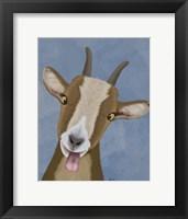 Framed Funny Farm Goat 3