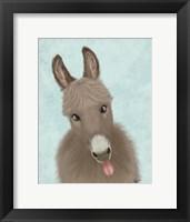 Framed Funny Farm Donkey 2