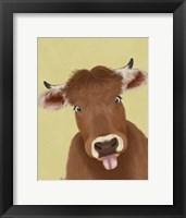 Framed Funny Farm Cow 2