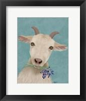 Framed Goat and Bluebells