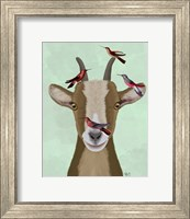 Framed Goat and Red Birds