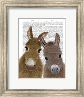 Framed Donkey Duo, Looking at You Book Print