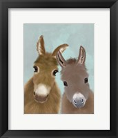 Framed Donkey Duo, Looking at You