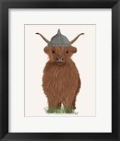 Framed Highland Cow Viking