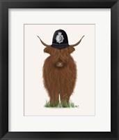 Framed Highland Cow Policeman