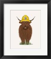 Framed Highland Cow Fireman