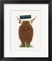 Framed Highland Cow Lawyer