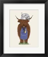 Framed Highland Cow Chef