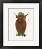 Framed Highland Cow Fisherman