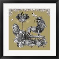 Framed Livoris Feritas Lion Design, Square
