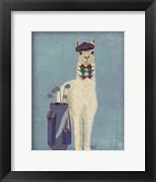 Framed Llama Golfing