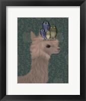Framed Llama Owls, Portrait