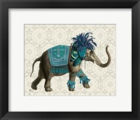 Framed Niraj Elephant, Blue
