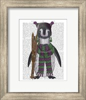 Framed Penguin Skis Book Print