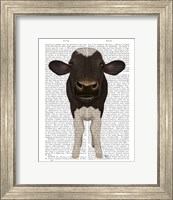 Framed Nosey Cow 2 Book Print