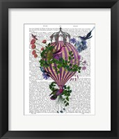Framed Bird Balloon 1 Book Print