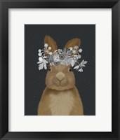 Framed Rabbit, White Flowers