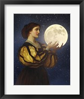 Framed Moon In Her Hands