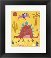 Framed Skating Stegosaurus