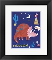 Framed Terrific Triceratops