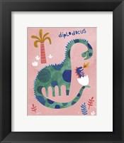 Framed Diplodocus Duo