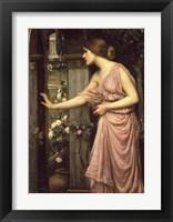 Framed Psyche Entering Cupid's Garden