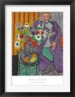Framed La Robe Violette et Anemones
