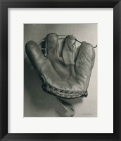 Framed Baseball Glove