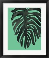 Framed Tropical Palm II BW Green