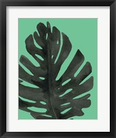 Framed Tropical Palm I BW Green