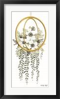 Framed Gold Geometric Circle & Ivy