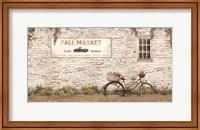 Framed Fall Market with Bike