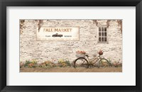 Framed Fall Market with Bike