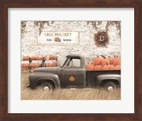 Framed Fall Pumpkin Market