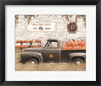 Framed Fall Pumpkin Market