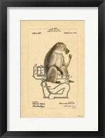Framed Monkey in Bowl