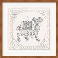 Framed Winter Caravan Camel