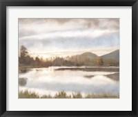 Framed Lakeview Sunset Landscape