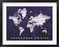 Framed Adventure Awaits Map