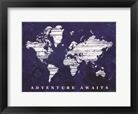 Framed Adventure Awaits Map