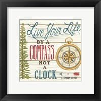 Framed Compass Not a Clock