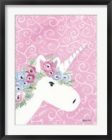 Framed Floral Unicorn II
