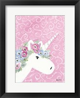 Framed Floral Unicorn II