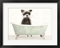 Framed Vintage Tub with Racoon