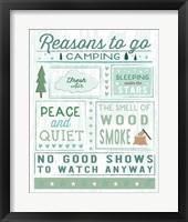 Framed Comfy Camping II