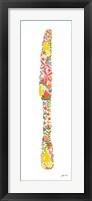 Framed Floral Knife