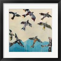 Framed Ravens Rising