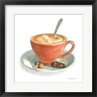 Framed Wake Me Up Coffee III on White