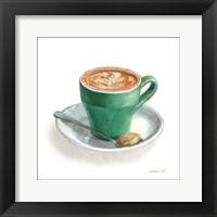 Framed Wake Me Up Coffee II on White